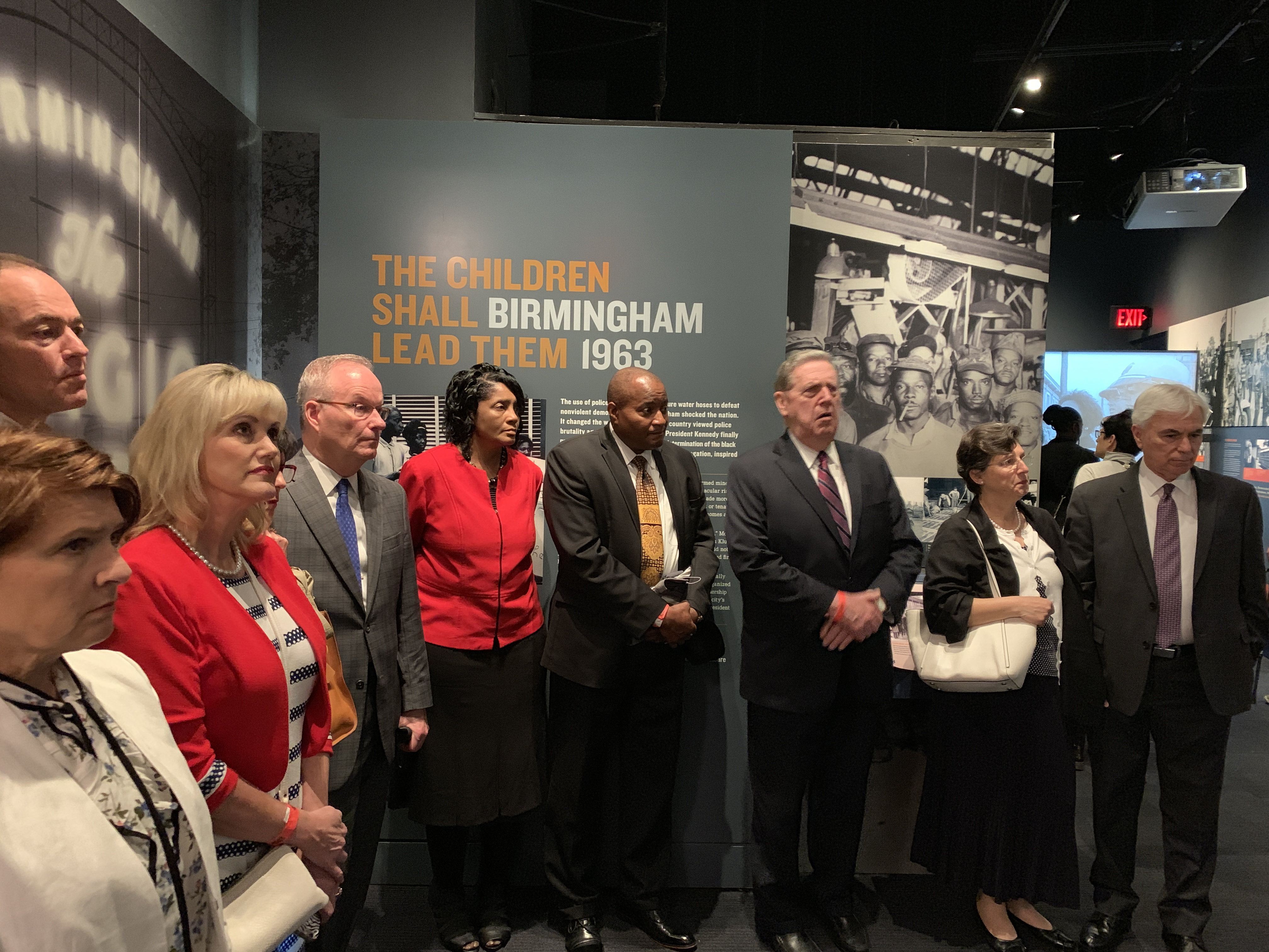 Elder Holland, third from right, tours through the Civil Rights Museum in downtown Memphis, Tennessee, with a group of Church leaders on May 4, 2019.