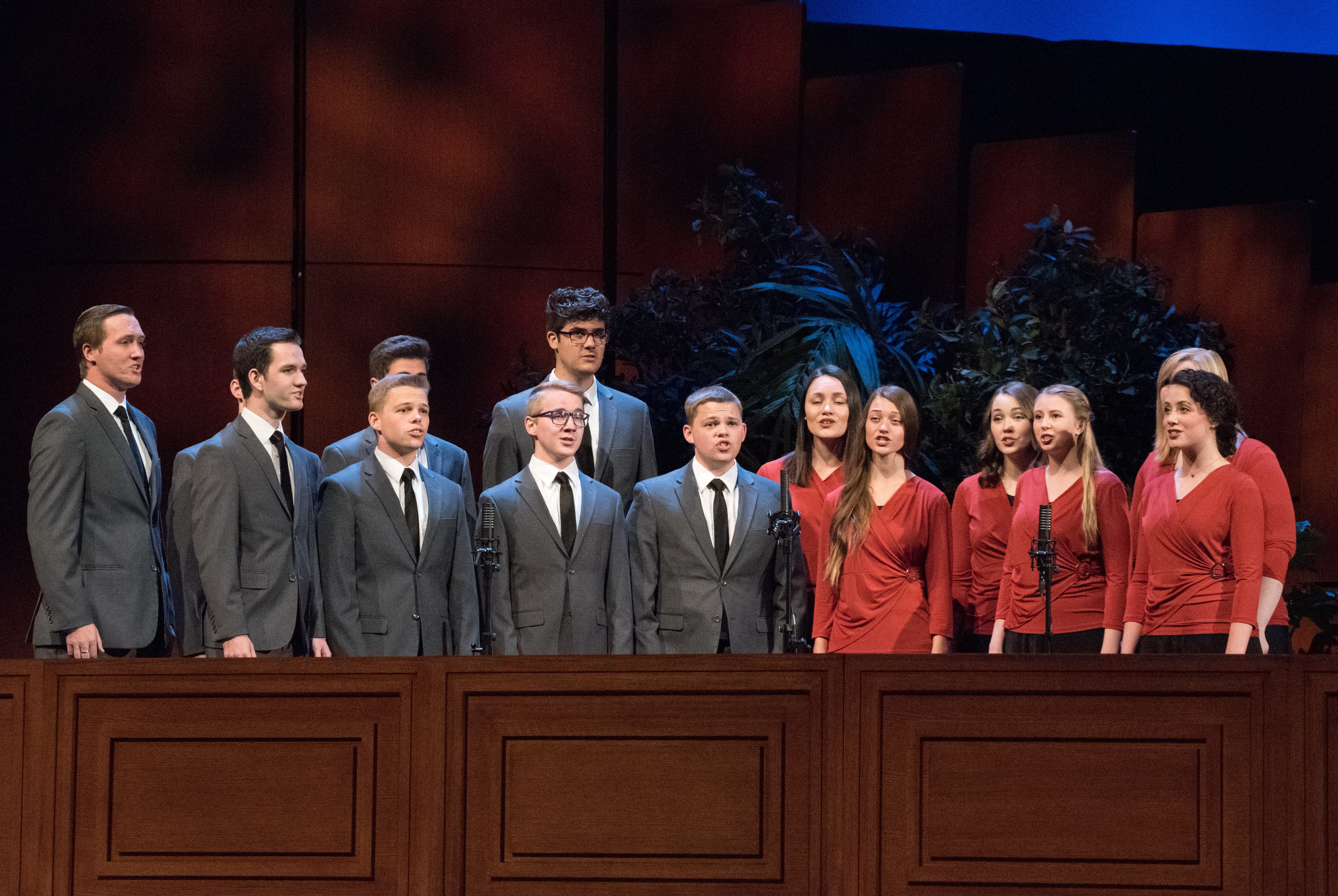 Vocal Union, a singing group at BYU-Idaho, performs during the campus devotional on Sept. 25.
