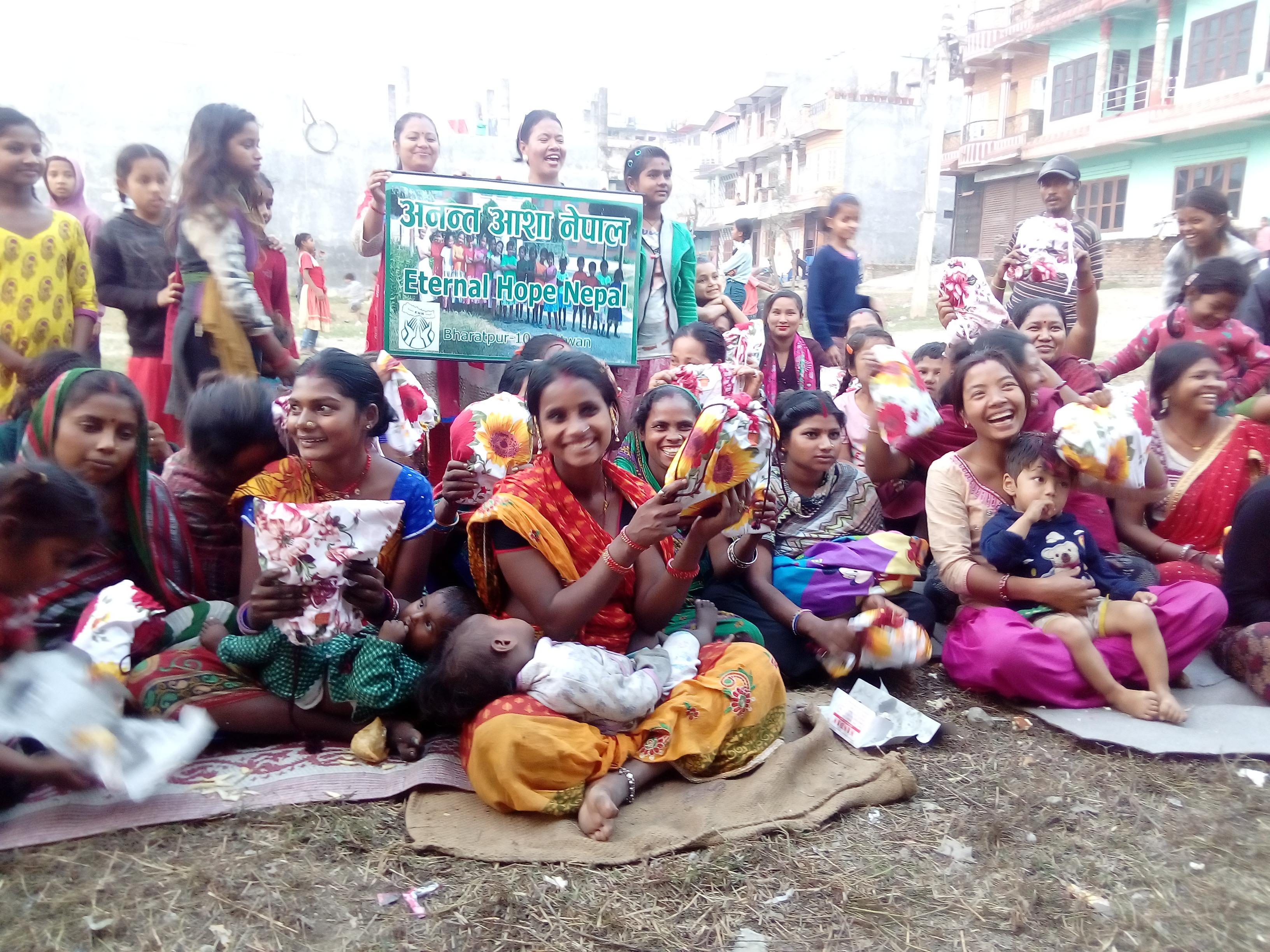 Students of Eternal Hope Nepal in the slums near Chitwan, Nepal.