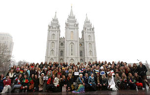 Future missionaries celebrate the new age announced by President Thomas S. Monson for full-time missionaries.