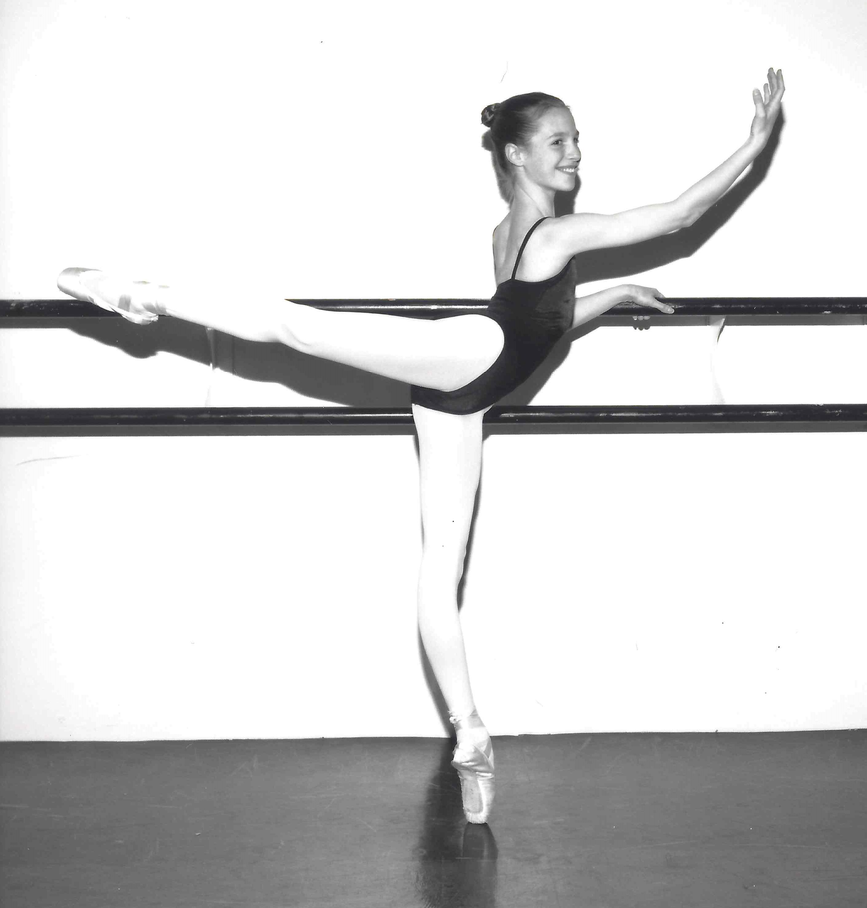 Sara Webb Bardo, age 12, would be attending the HARID Conservatory in Florida for intensive ballet training.