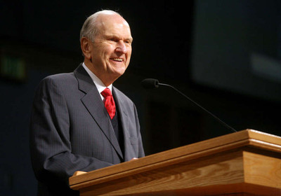 Elder Russell M. Nelson of the Quorum of the Twelve speaks during a Christmas morning devotional at the Missionary Training Center in Provo on Tuesday, Dec. 25, 2012.