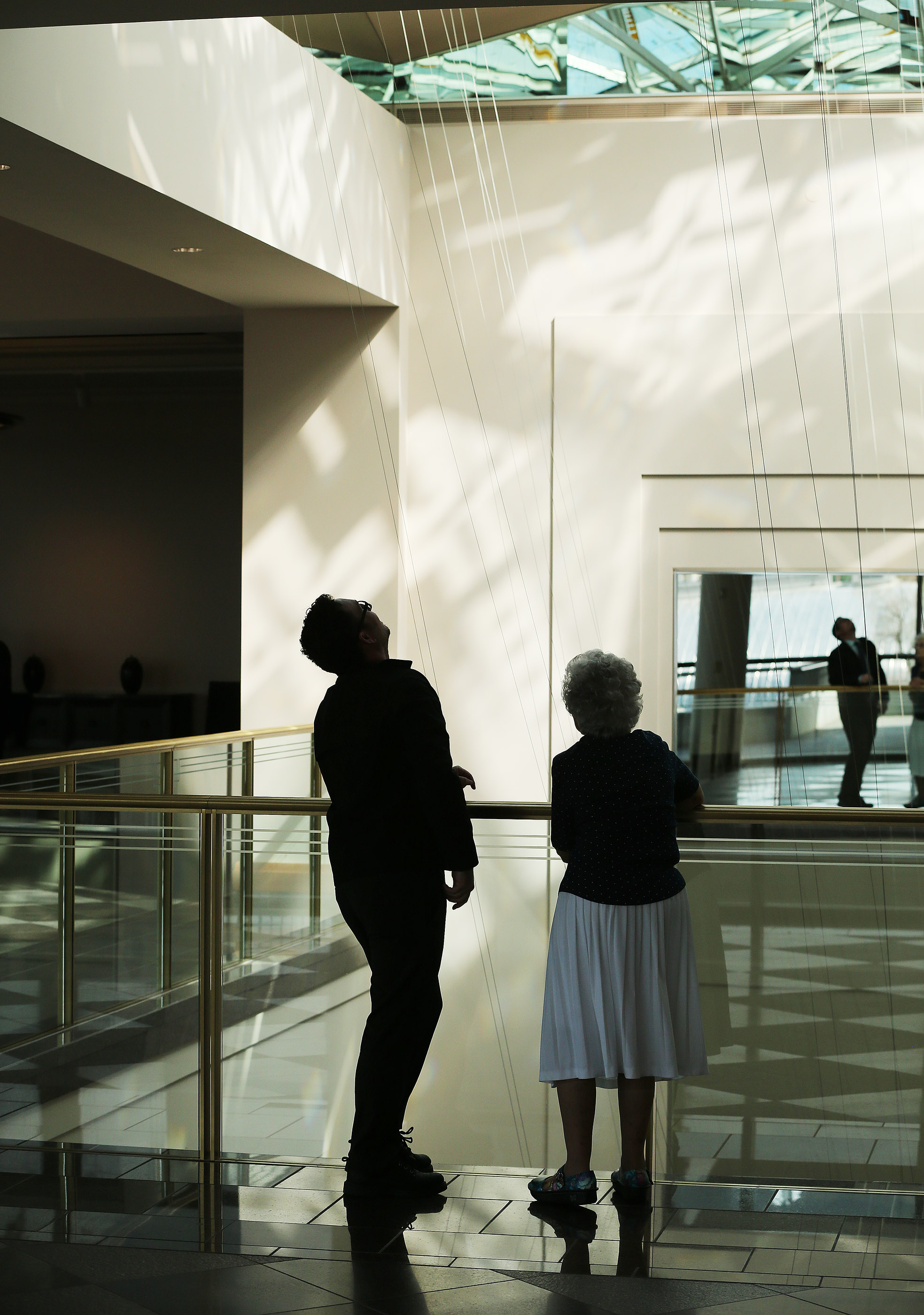 Attendees wander the Conference Center during the 189th Annual General Conference of The Church of Jesus Christ of Latter-day Saints in Salt Lake City on Sunday, April 7, 2019.
