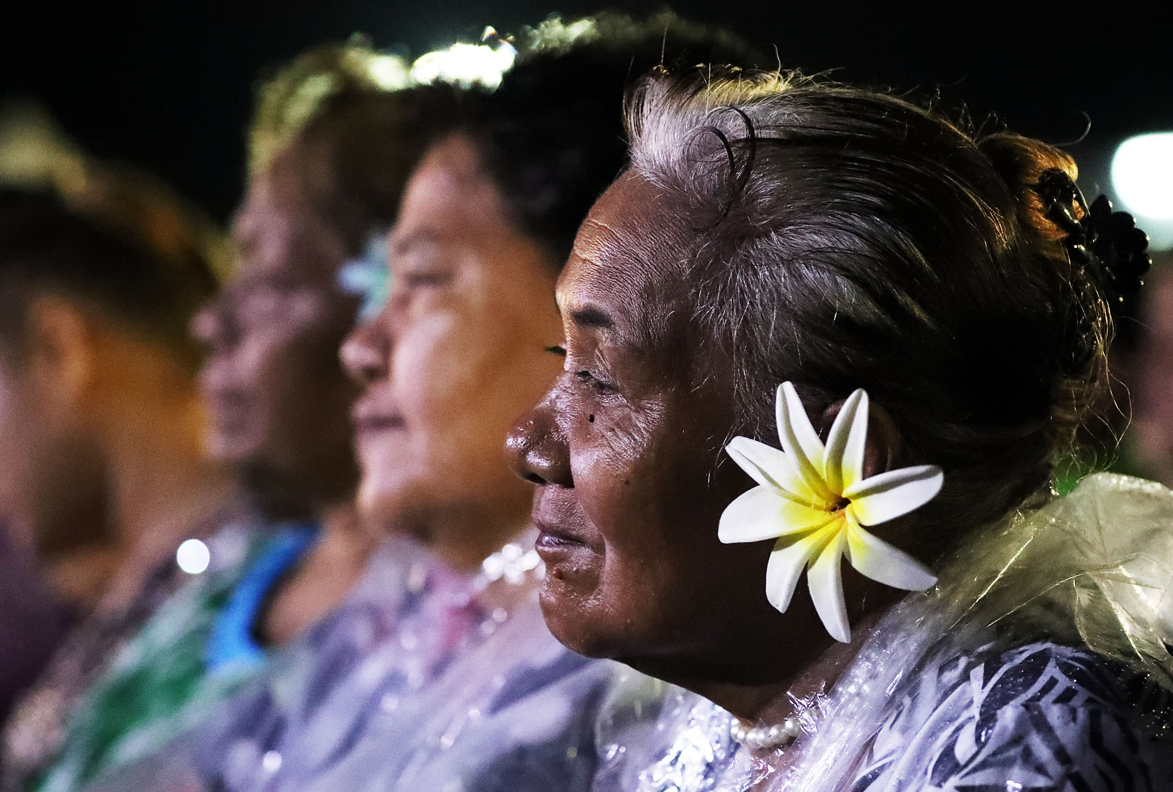 Malia Fale listens during a devotional with President Russell M. Nelson of The Church of Jesus Christ of Latter-day Saints in Apia, Samoa, on Saturday, May 18, 2019.