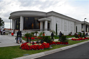 Guests arrive at the recently reopened Mexico City Temple Visitors Center.