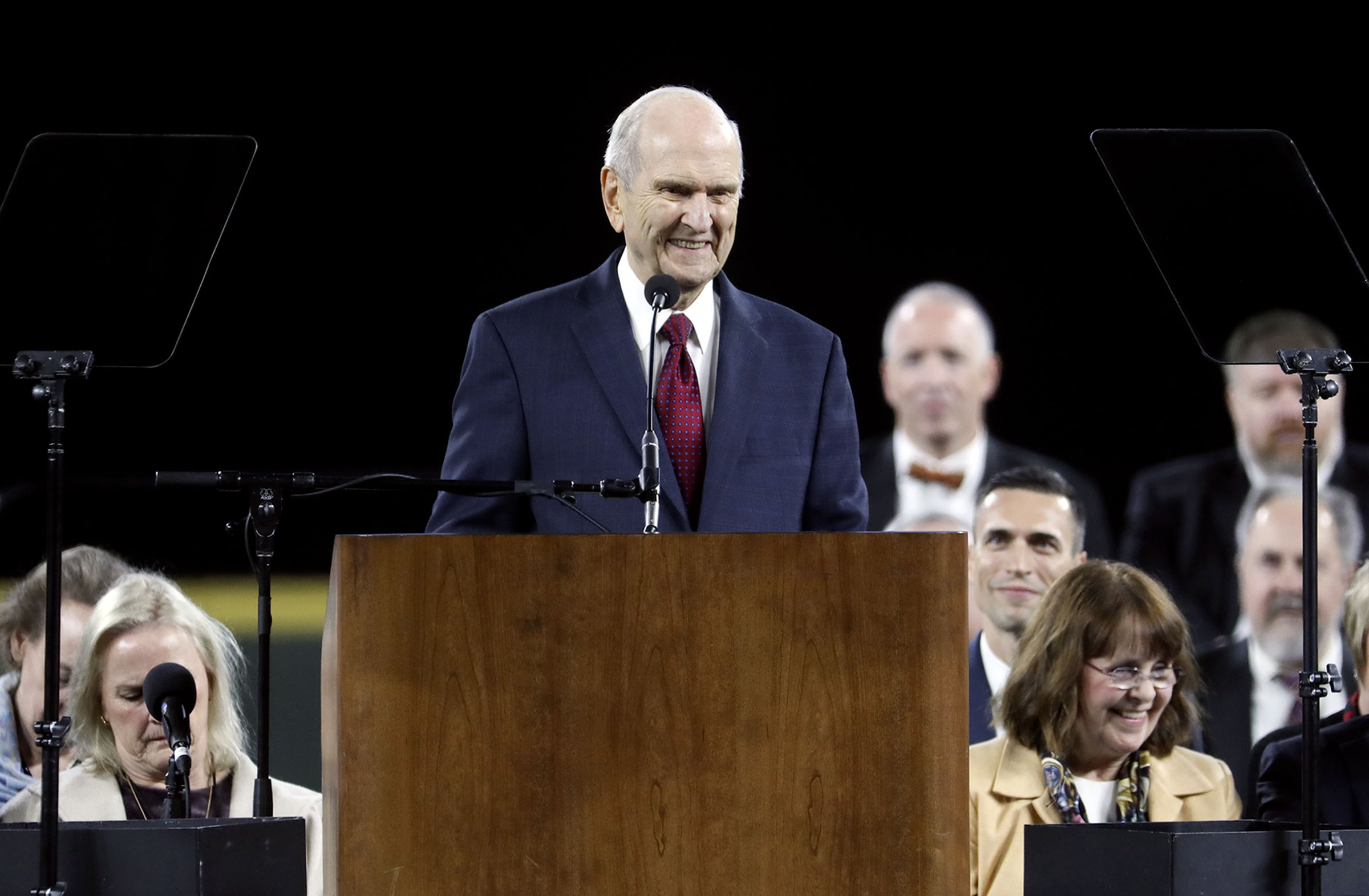 President Russell M. Nelson of The Church of Jesus Christ of Latter-day Saints speaks at Safeco Field in Seattle, Wash., on Saturday, Sept. 15, 2018.