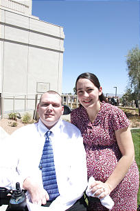 Mark and Elizabeth Kelly find comfort and peace in the temple. They attended the dedication of The Gila Valley Arizona Temple on May 23.