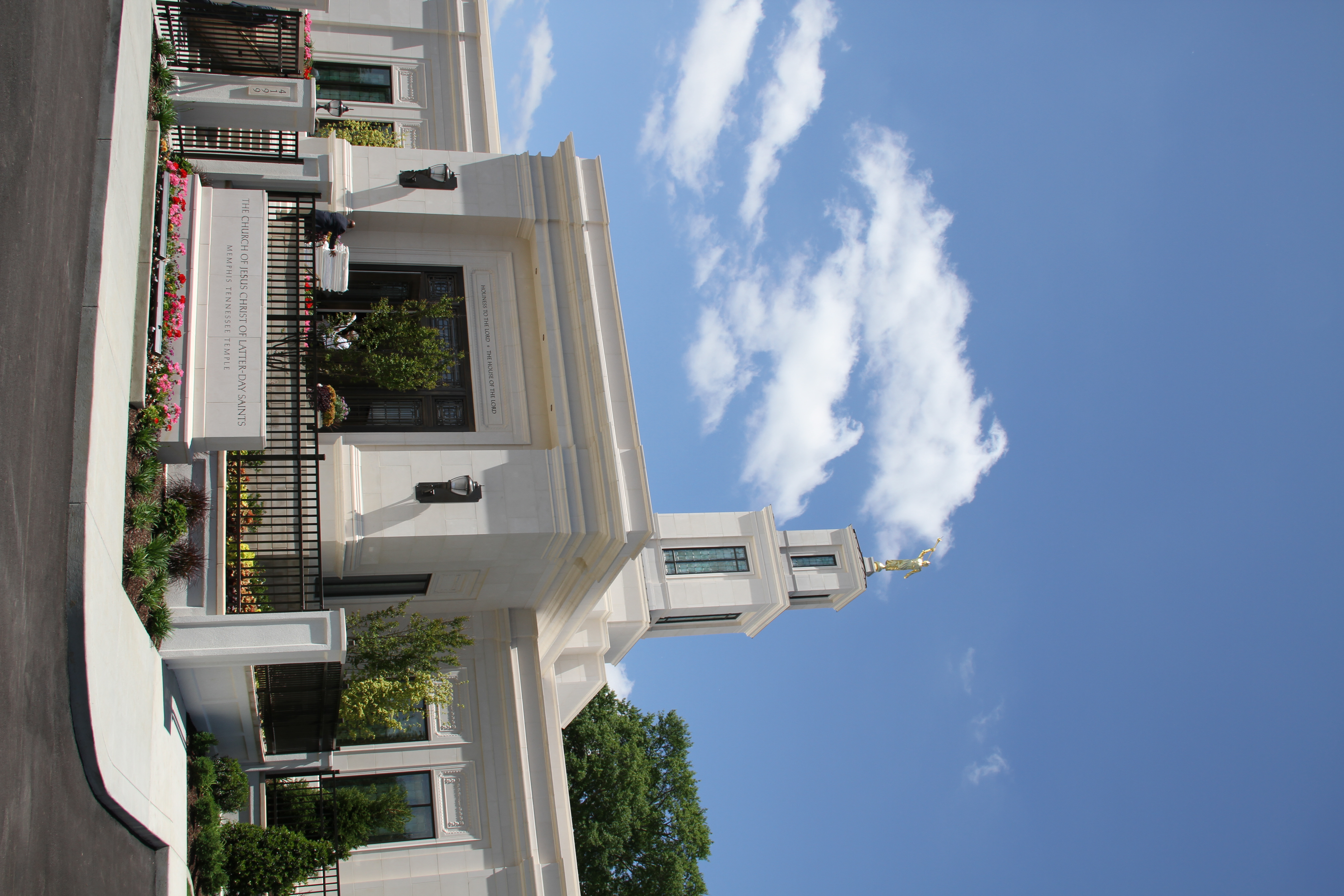 The Memphis Tennessee Temple on May 5, 2019 after it was rededicated by Elder Holland.