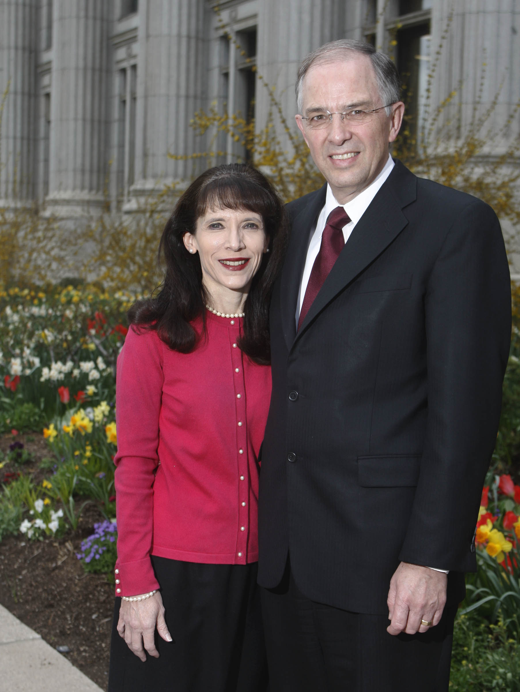 Elder Neil L. Andersen and his wife, Sister Kathy Andersen on Tuesday, April 14, 2009.