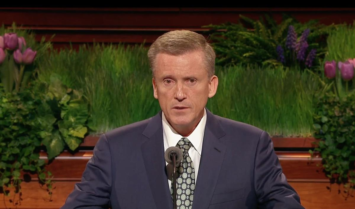 Elder Kevin R. Duncan of the Seventy speaks April 2 during the Saturday morning session of the 186th Annual General Conference of The Church of Jesus Christ of Latter-day Saints.