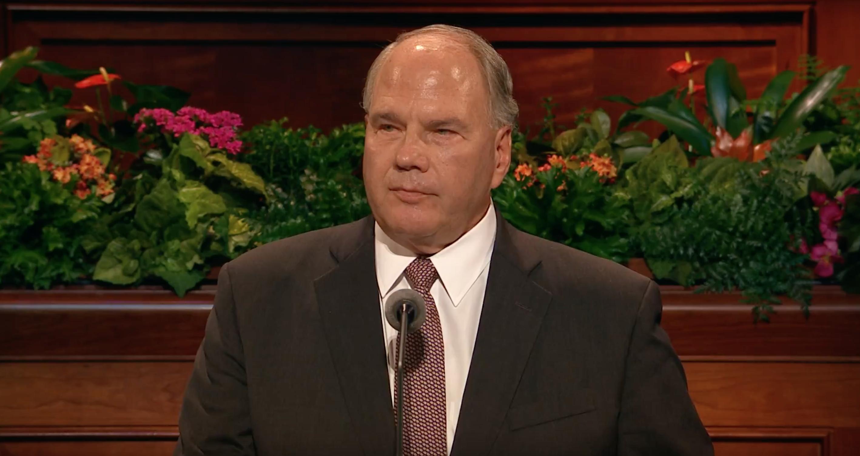 Elder Ronald A. Rasband gives his October 2018 general conference address.