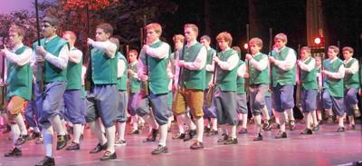 Cultural celebration scene: Revolutionary soldiers