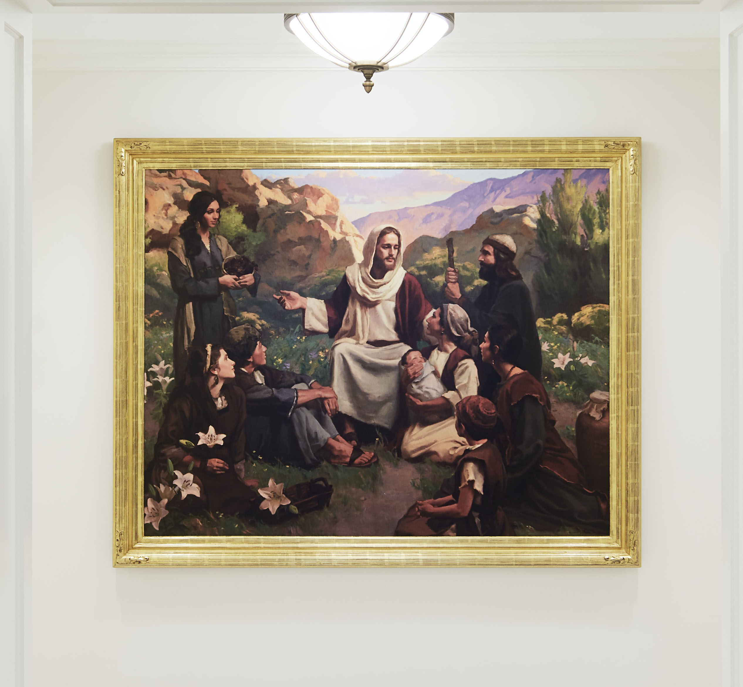 Paintings of the Savior are placed throughout the Memphis Tennessee Temple.