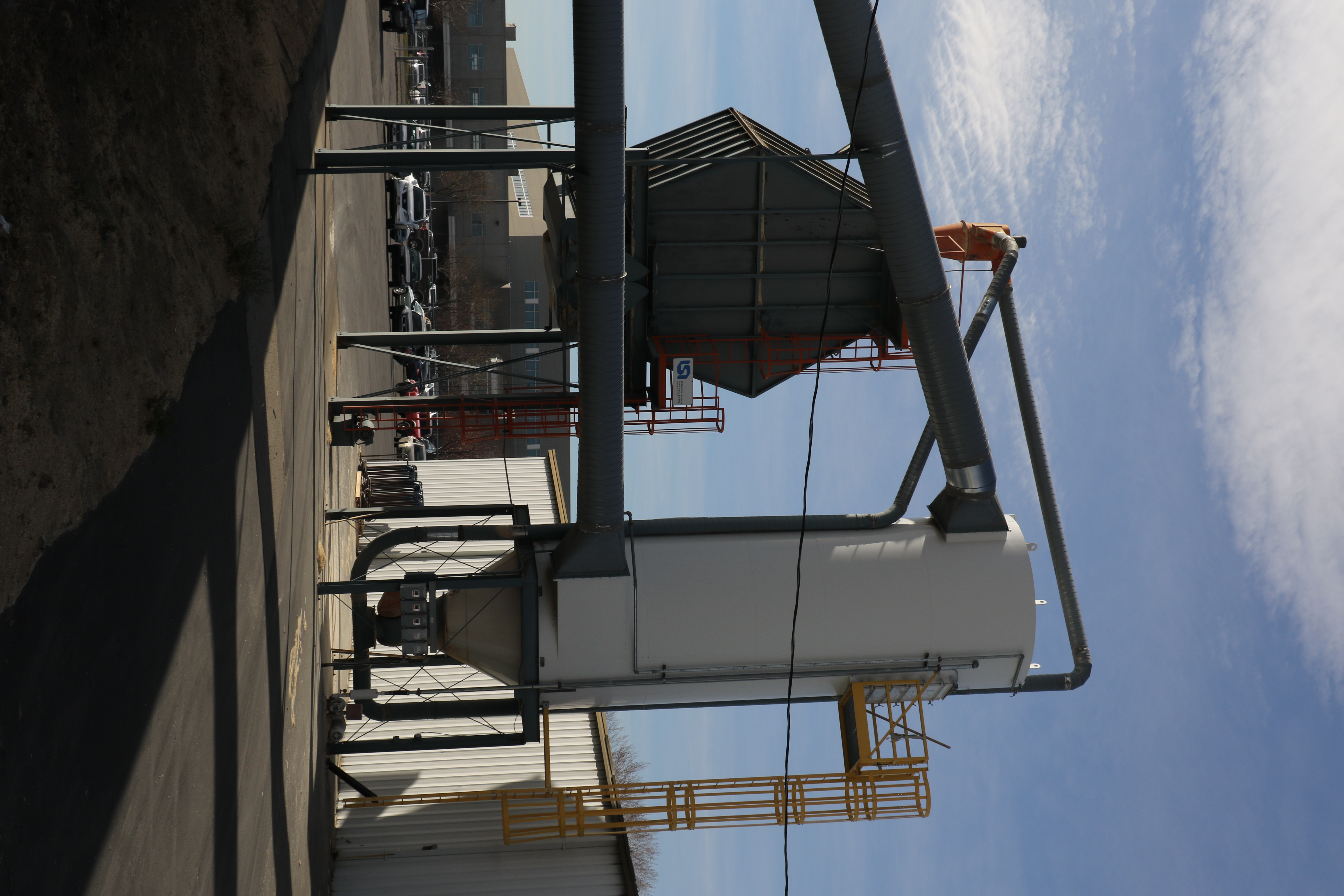 A silo on the property of Deseret Manufacturing facility.