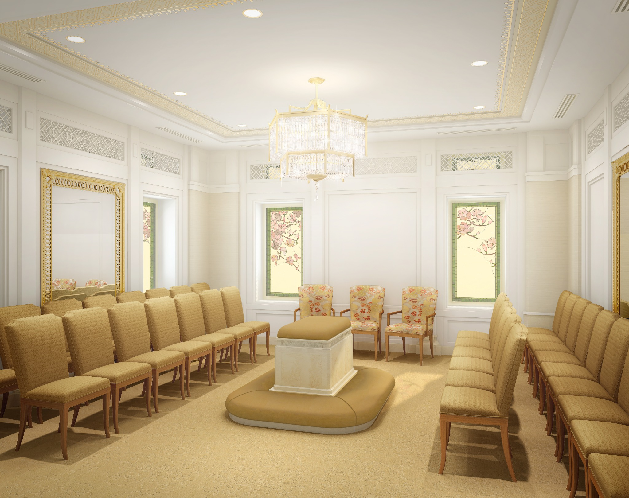 Rendering of a sealing room in the Hong Kong China Temple.