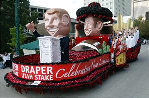 "UTAH AWARD -- Draper Utah Stake's float entitled ""Celebrating New Legacies"" during the Days of '47 parade Saturday, July 23, 2005. Photo by Jason Olson (Submission date: 07/25/2005)"