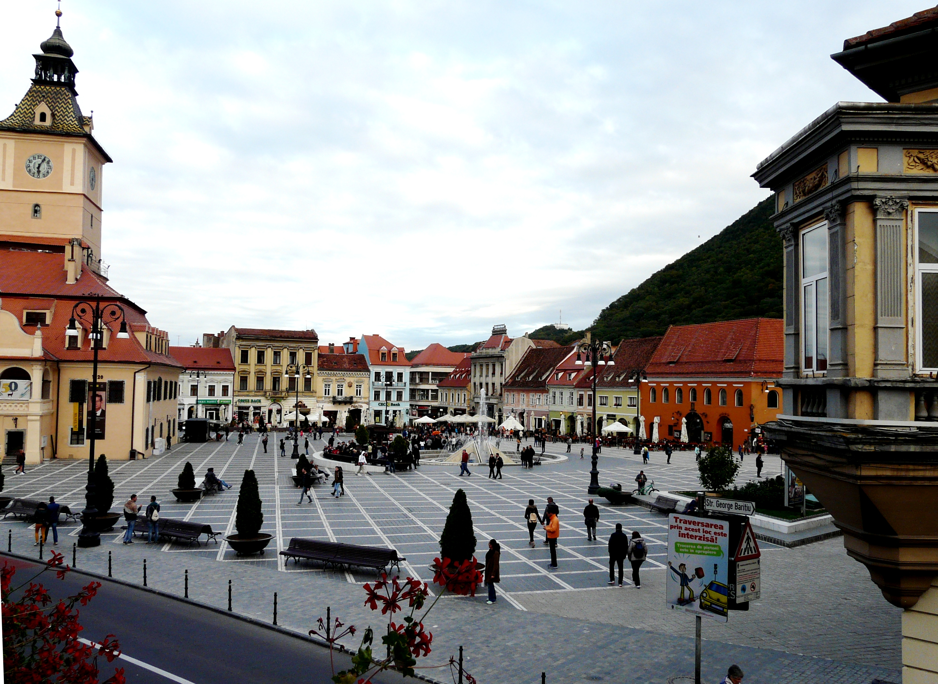 The main square in Brasov, originally built nine centuries ago, was rebuilt after a fire destroyed the walled city in 1689.