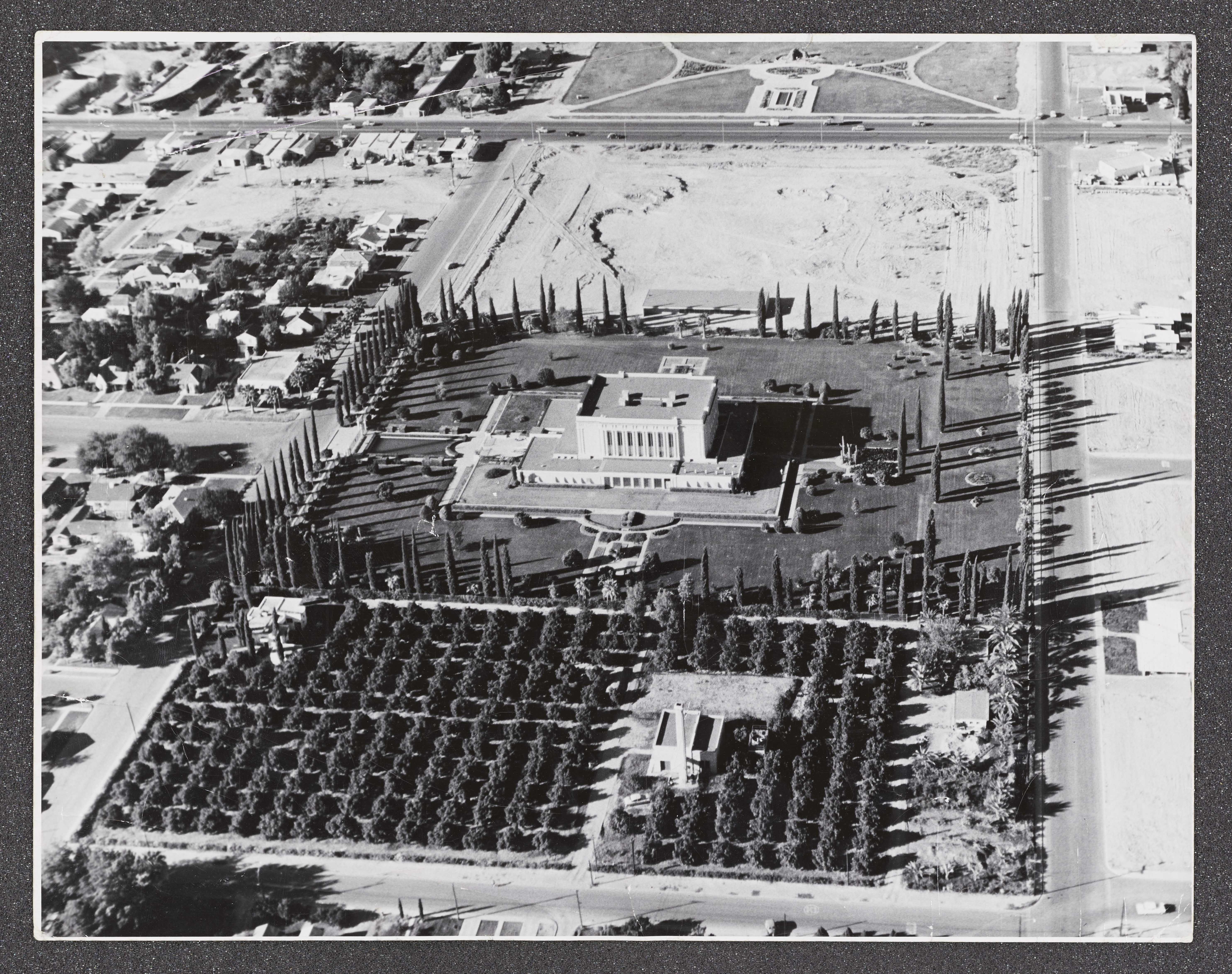 The Mesa Arizona Temple in the 1940s.