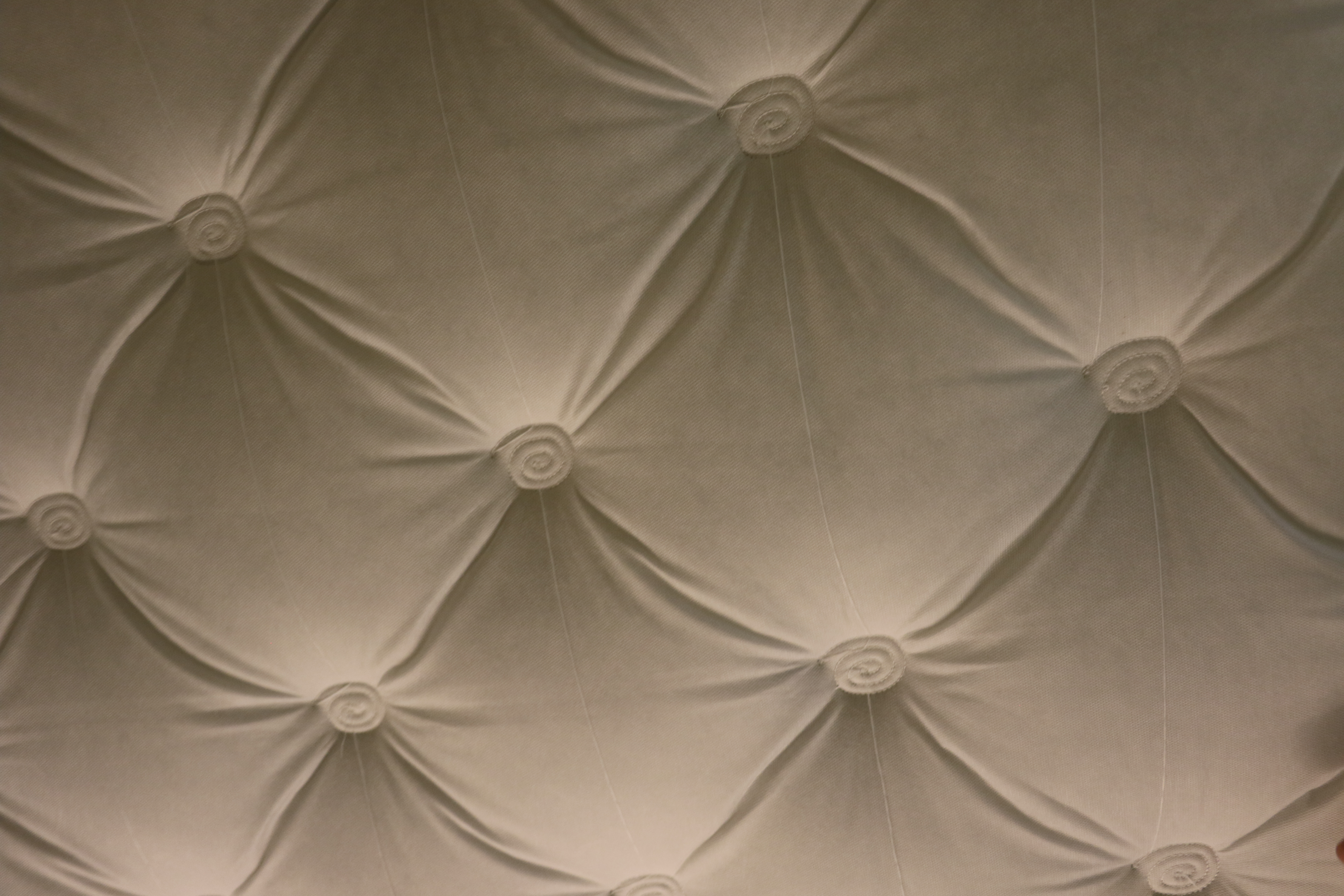 Quilting from a mattresses made at the Deseret Manufacturing facility.