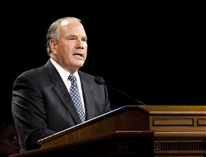 Elder Ronald A. Rasband, a member of the First Presidency of the Quorum of the Seventy in The Church Of Jesus Christ Of Latter Saints, speaks at a devotional address at Brigham Young University in Provo, Utah February 10, 2009 .(Photo by: Kenny Crookston/BYU) Copyright BYU Photo 2009 All Rights Reserved photo@byu.edu (801)-422-7322