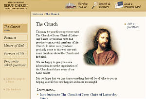Web page introducing Church doctrines.