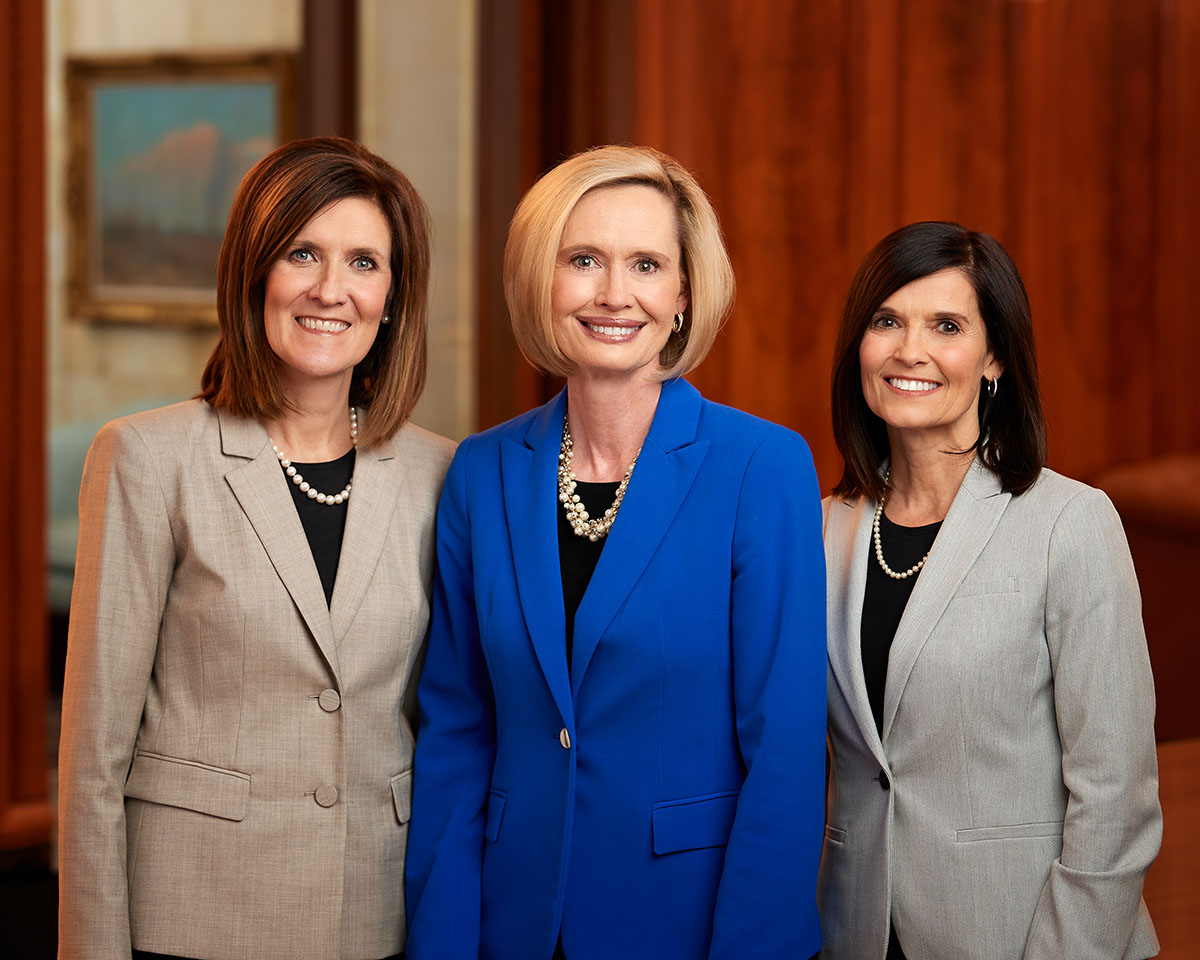 Sister Bonnie H. Cordon, Young Women general president, with her counselors, Sister Michelle Craig, left, and Sister Becky Craven, right.