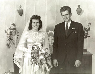 Boyd K. Packer and Donna Smith Packer, shown on their wedding day July 28, 1947, grew up in Brigham City and began their married life there. Six of their 10 children were born in Brigham City.