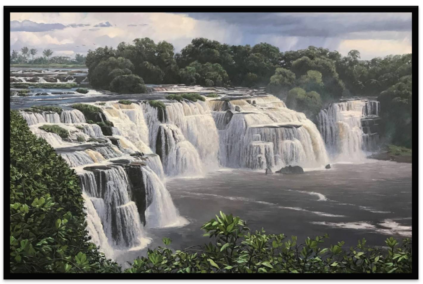 """The painting """"Congo Falls"""" is found in the Kinshasa Democratic Republic of the Congo Temple."""