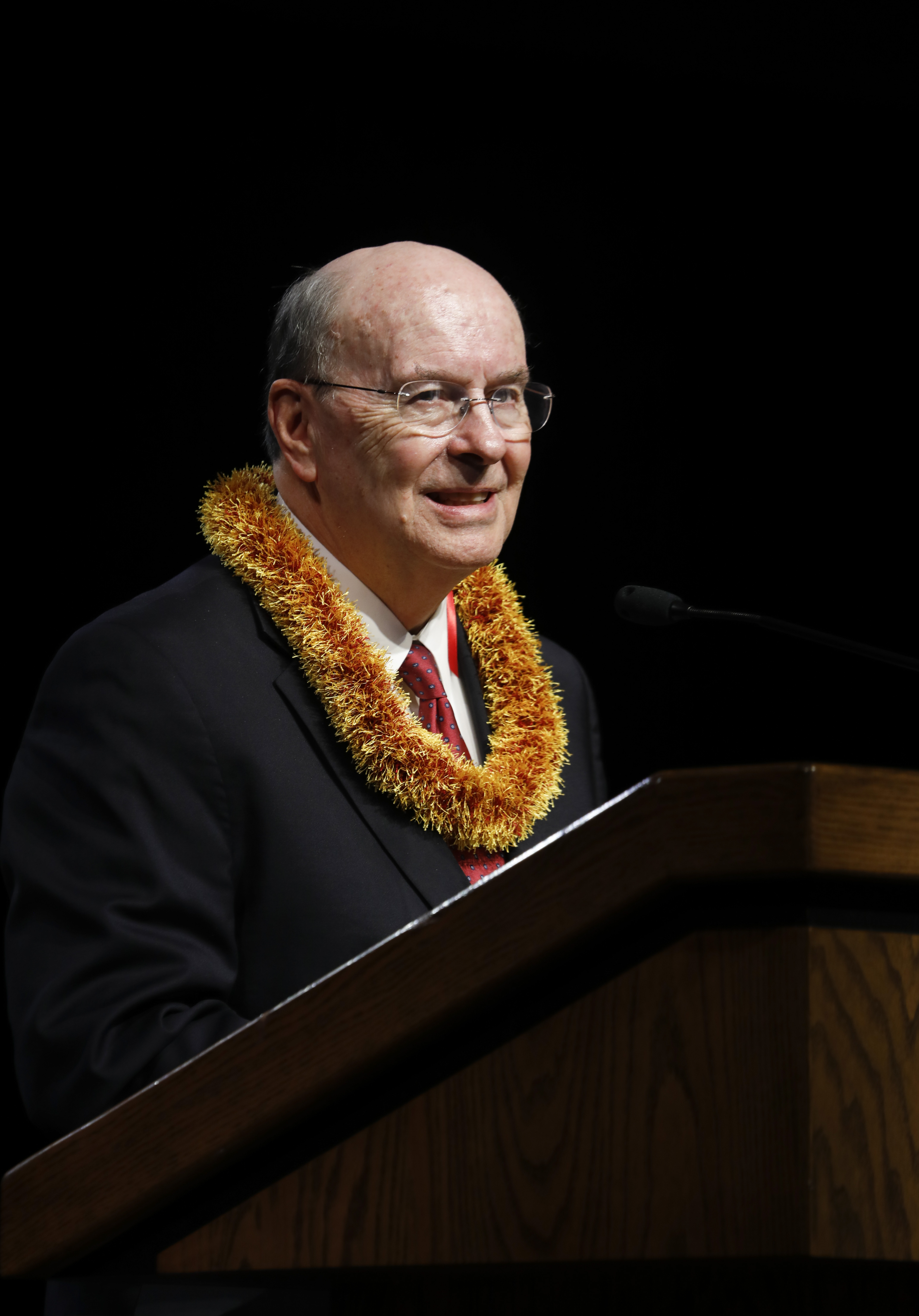 Elder Quentin L. Cook, of the Quorum of the Twelve Apostles, speaks during a campus devotional at BYU-Hawaii on Nov. 20.