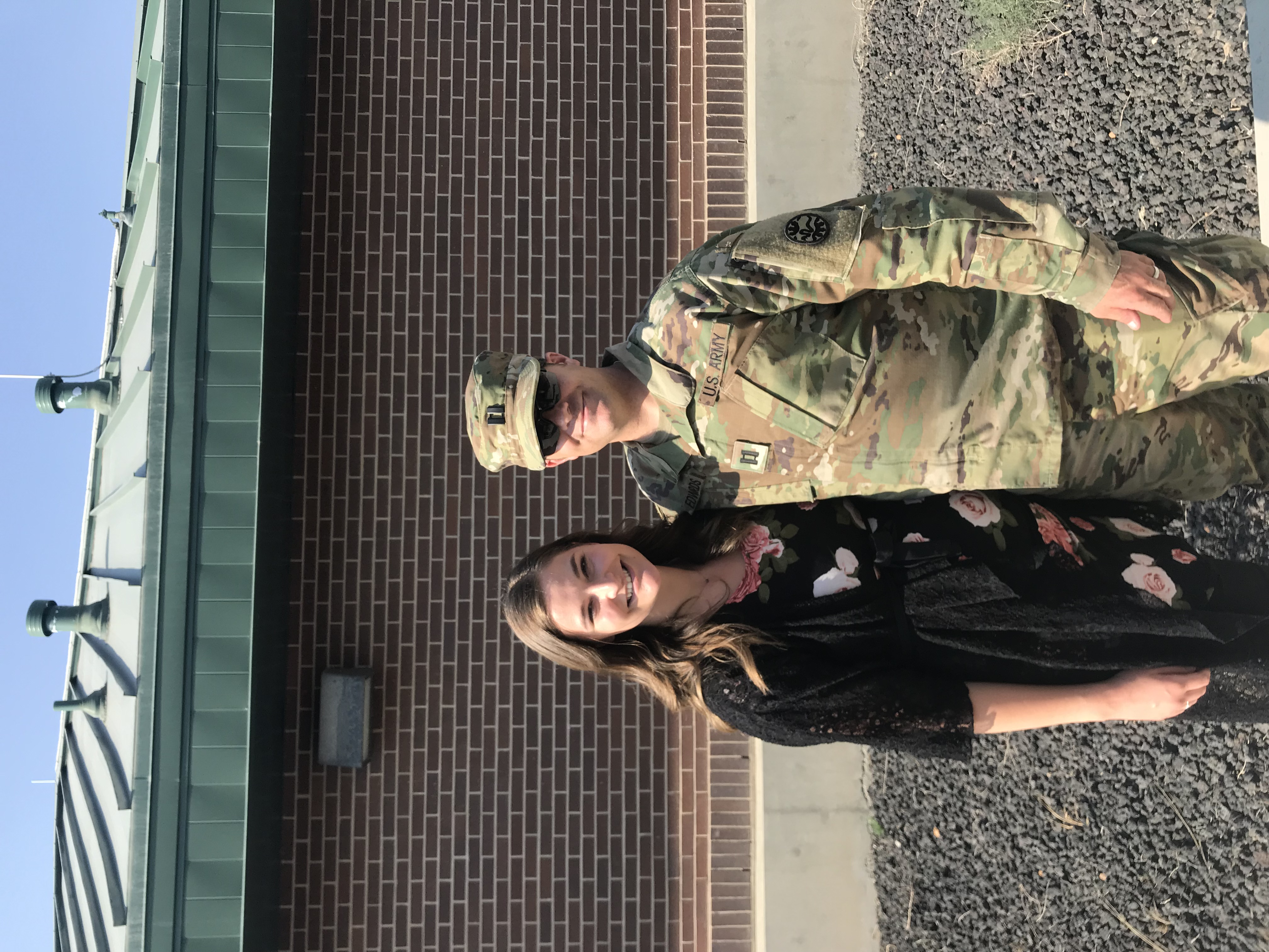 A.J. Edwards, shown with his wife, Sarah, is a captain in the Idaho Army National Guard. Twenty years ago he was struck by lightning while playing football with his youth team.