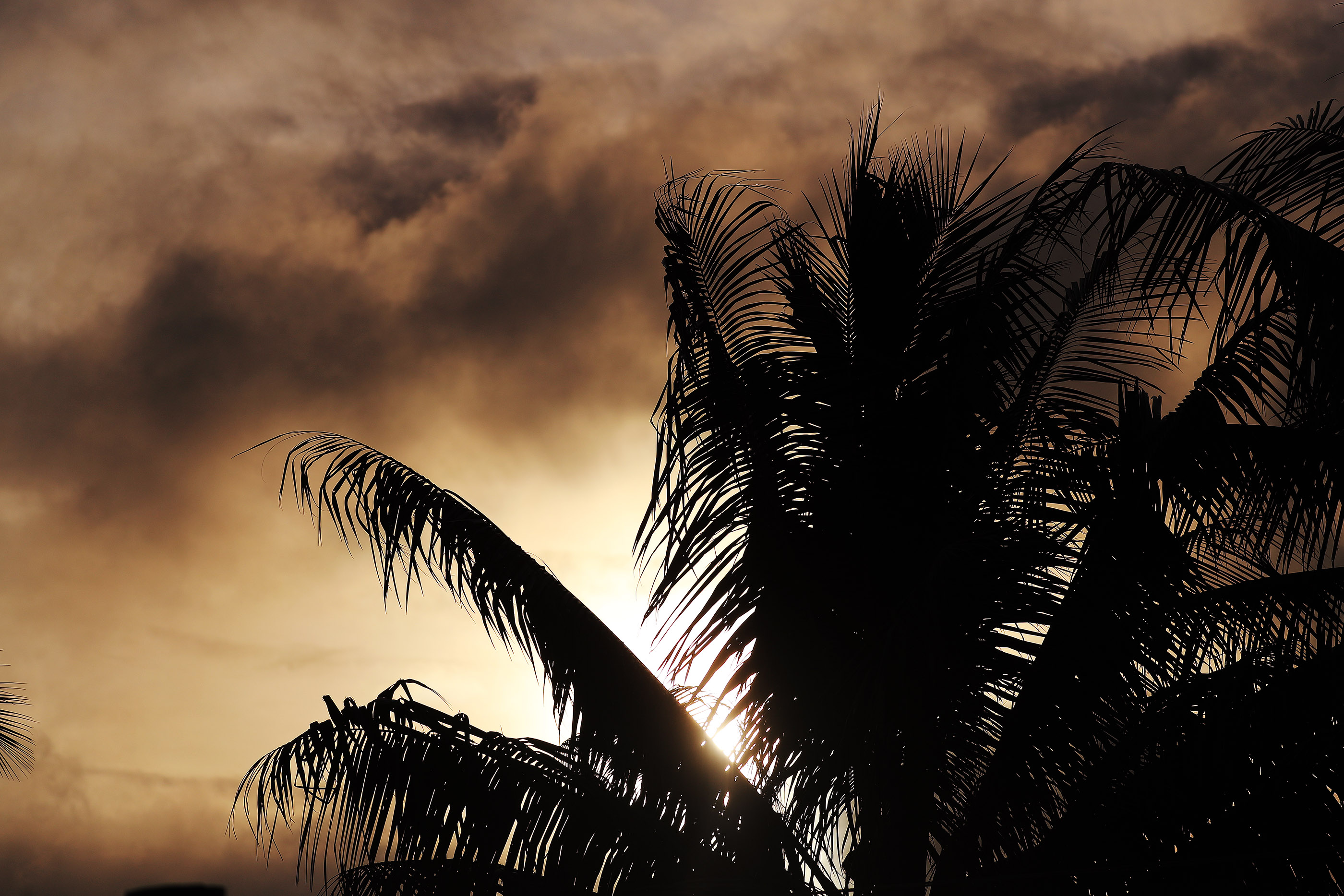 Clouds darken the evening sky during a devotional featuring President Russell M. Nelson of The Church of Jesus Christ of Latter-day Saints and his wife, Sister Wendy Nelson, in Nausori, Fiji on May 22, 2019.