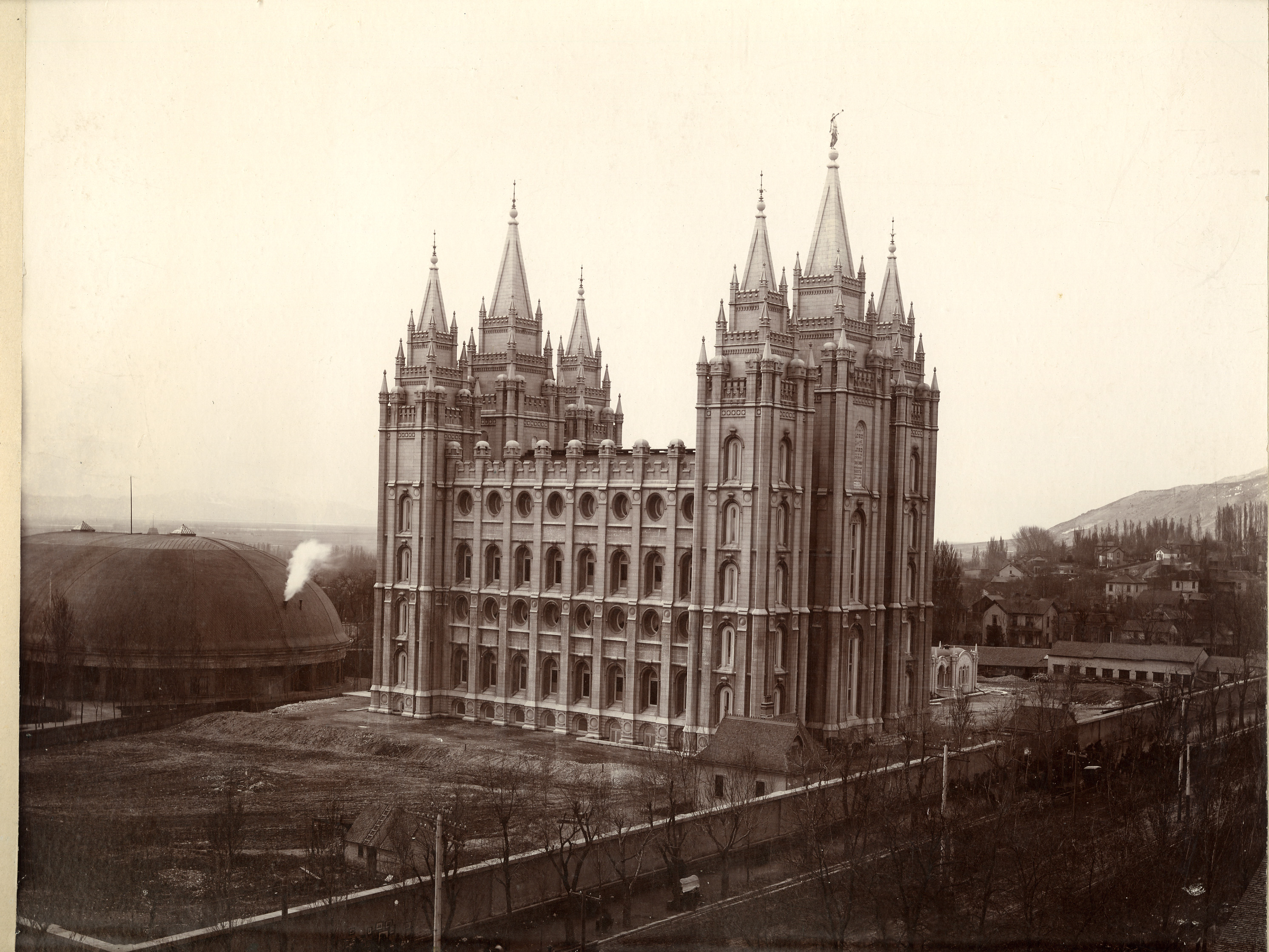 The Salt Lake Temple after its dedication in April 1893.