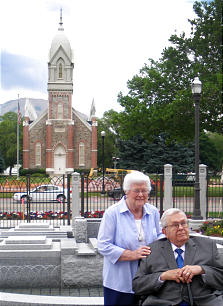 Sister Donna Packer and Pres. Boyd K. Packer.
