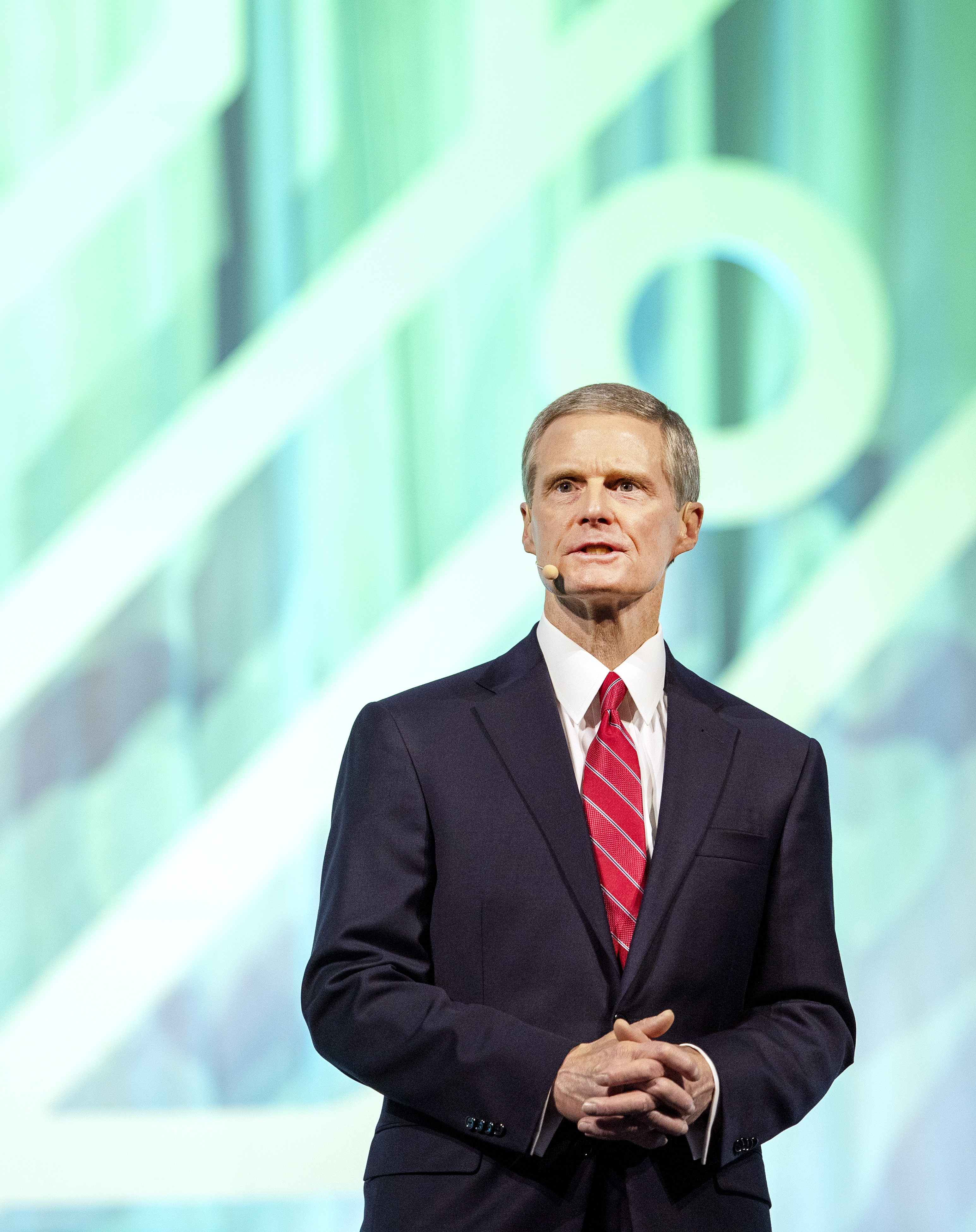 Elder David A. Bednar of the Quorum of the Twelve Apostles of The Church of Jesus Christ of Latter-day Saints speaks to the crowd prior to announcing a $2 million donation from the church to the International African American Museum Center for Family History, at Rootstech in Salt Lake City on Wednesday, Feb. 27, 2019.