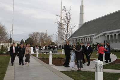 President Thomas S. Monson rededicated the Boise Idaho Temple, originally dedicated in 1984, on Nov. 18. Elder David Bednar, Elder William R. Walker, and Elder Craig Christensen accompanied him to dedication events.
