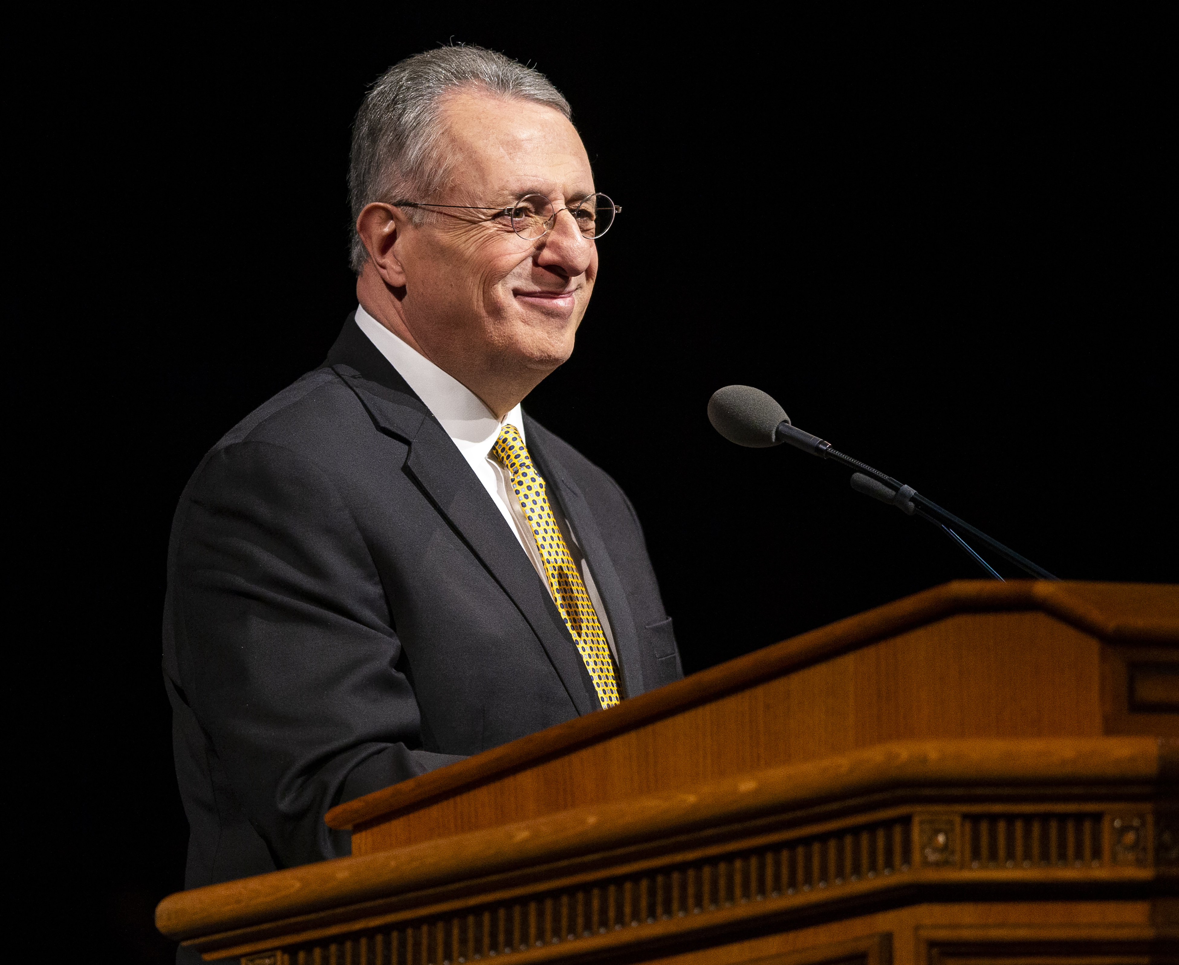 Elder Ulisses Soares of the Quorum of the Twelve Apostles of The Church of Jesus Christ of Latter-day Saints speaks at a devotional at BYU in Provo on Tuesday, Feb. 5, 2019.