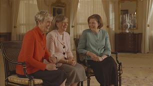 From left, Sister Rosemary M. Wixom, Primary general president; Sister Bonnie L. Oscarson, Young Women general president; and Sister Linda K. Burton, Relief Society general president, speak about changes in the Church's women's organizations.