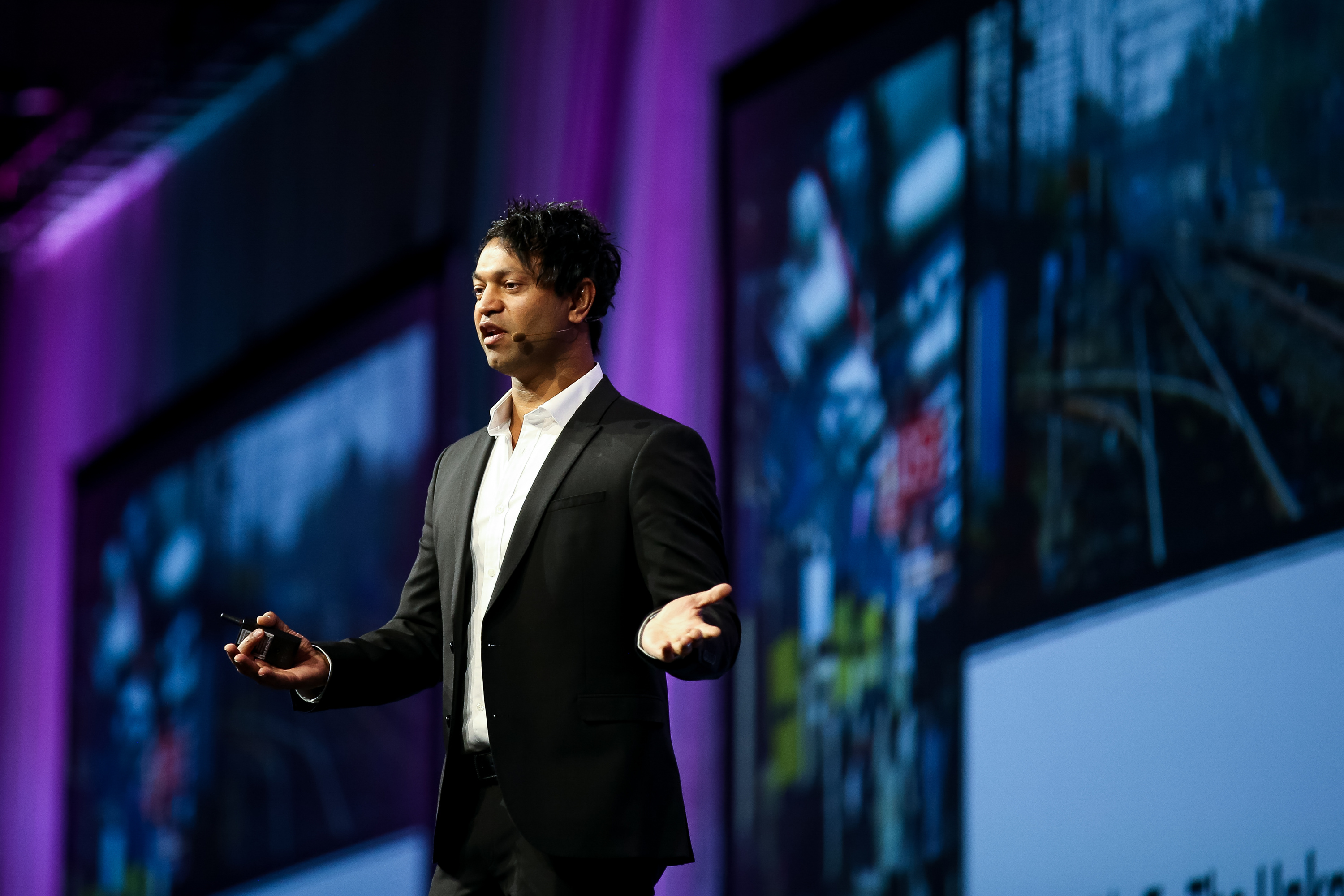 Saroo Brierley gives a keynote address at the RootsTech conference at the Salt Palace in Salt Lake City on Friday, March 1, 2019. Brierley lost contact with his family as a young child in India and was raised by an adoptive family in Australia, before later reconnecting with his biological family.