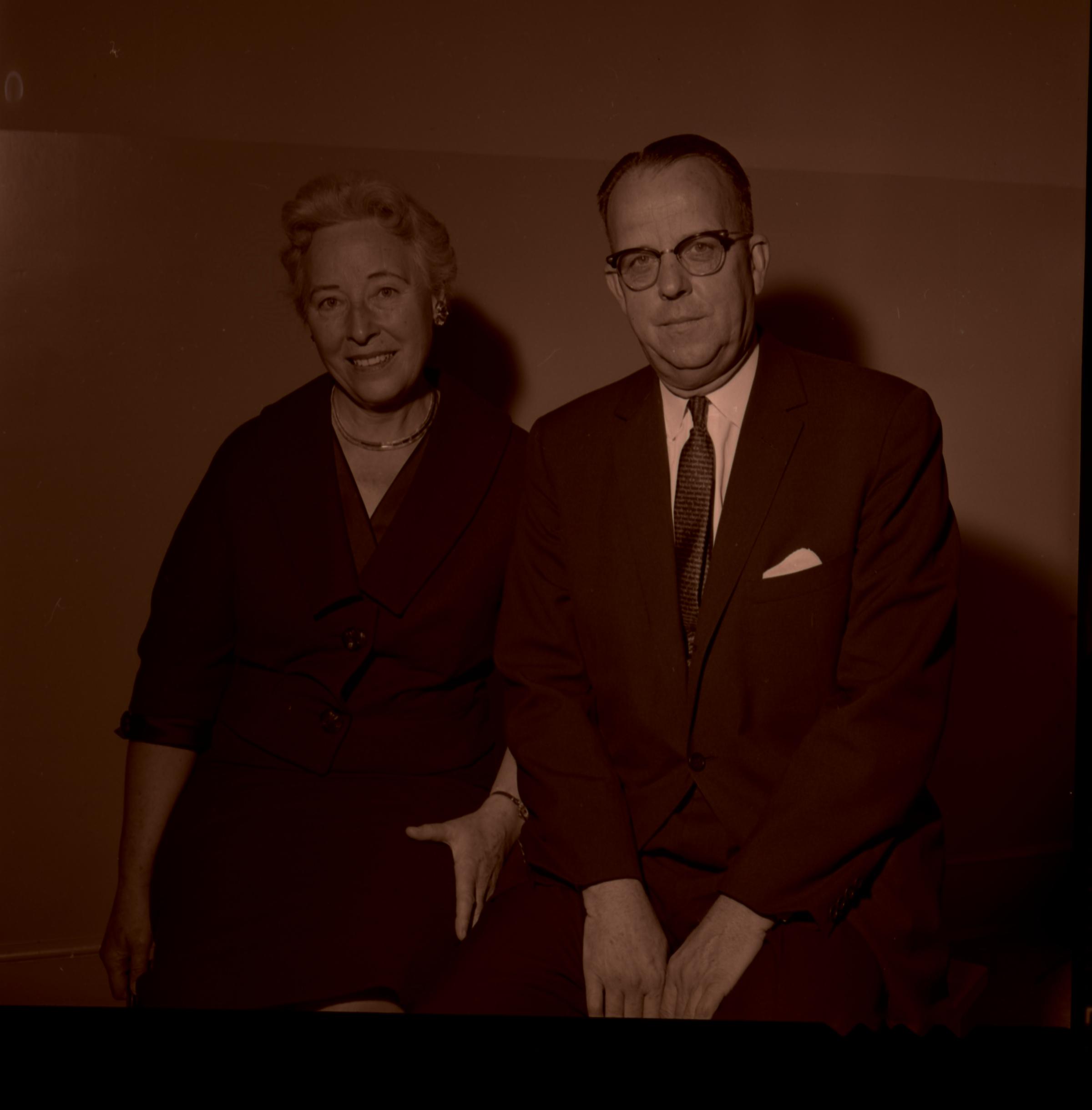 Sister Helen K. Richards and her husband, Elder Franklin D. Richards of the Presidency of the Seventy, circa 1960.
