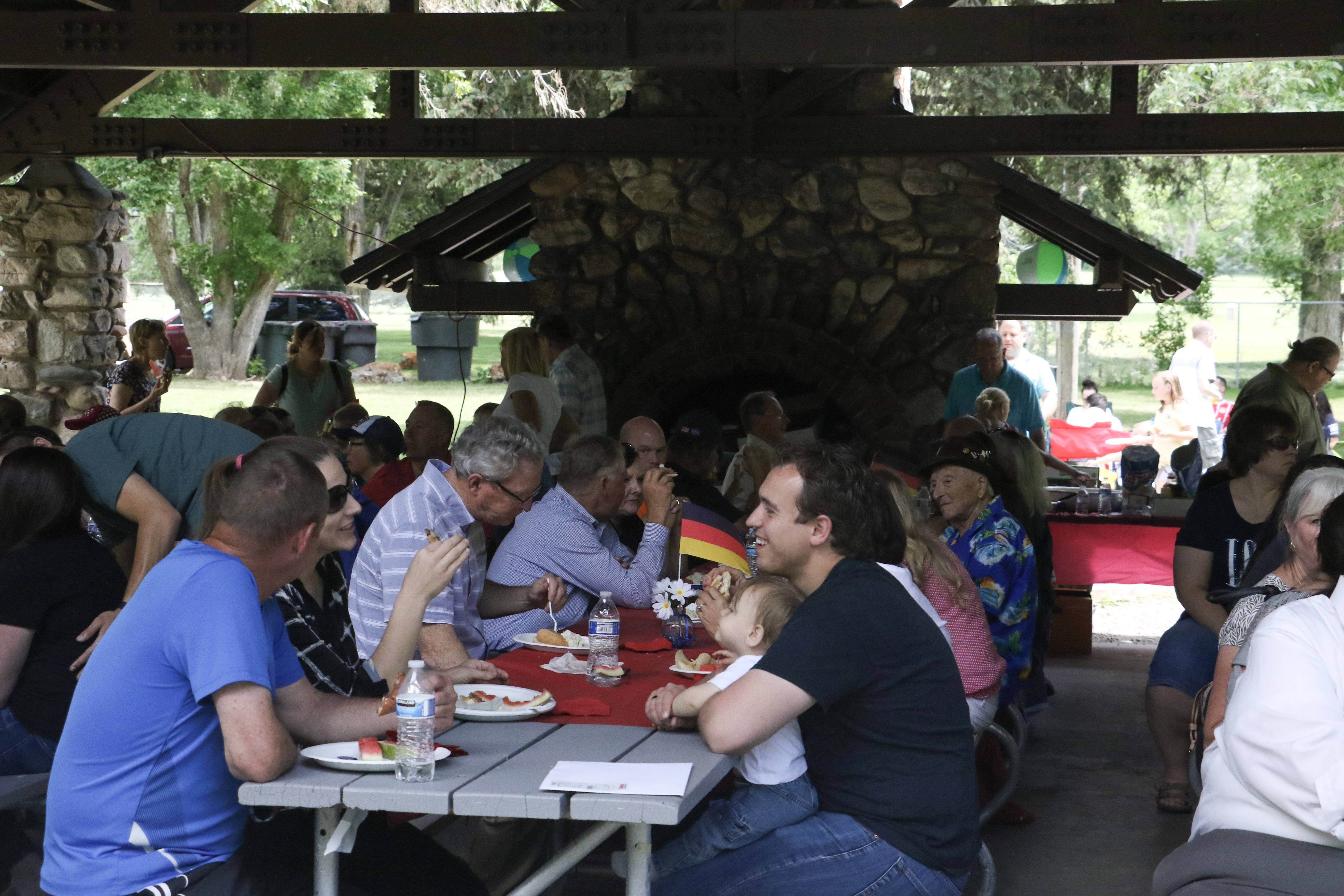 Members of the German Speaking Ward — along with their family and friends — attend the annual ward picnic at Washington Terrace Park in Parley's Canyon, Utah, on July 13, 2019.
