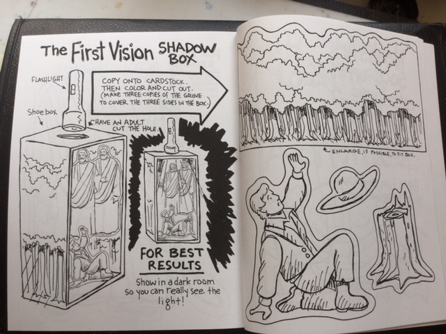 "Inside pages of ""Sunday Activity Book"" by Val Chadwick Bagley."