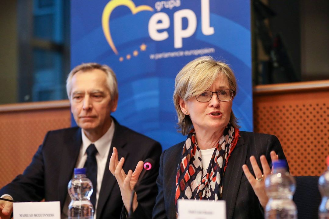 Ms. Mairead McGuinness, First Vice President of the European Parliament. European Union 2018.