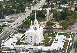 Aerial photos of the new Brigham City Utah Temple.