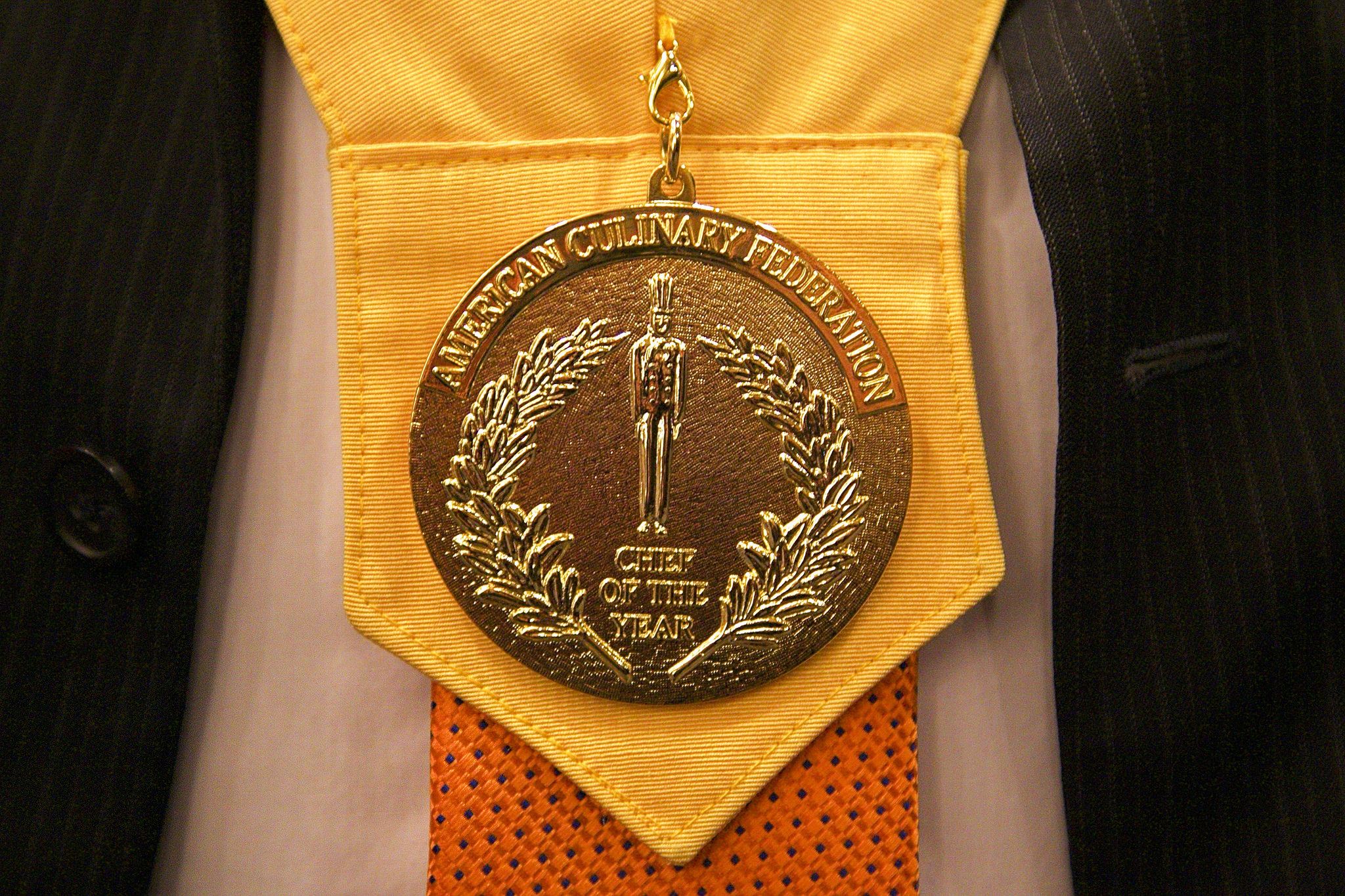 National Chef of the Year medal hangs around the neck of Latter-day Saint Todd Leonard.