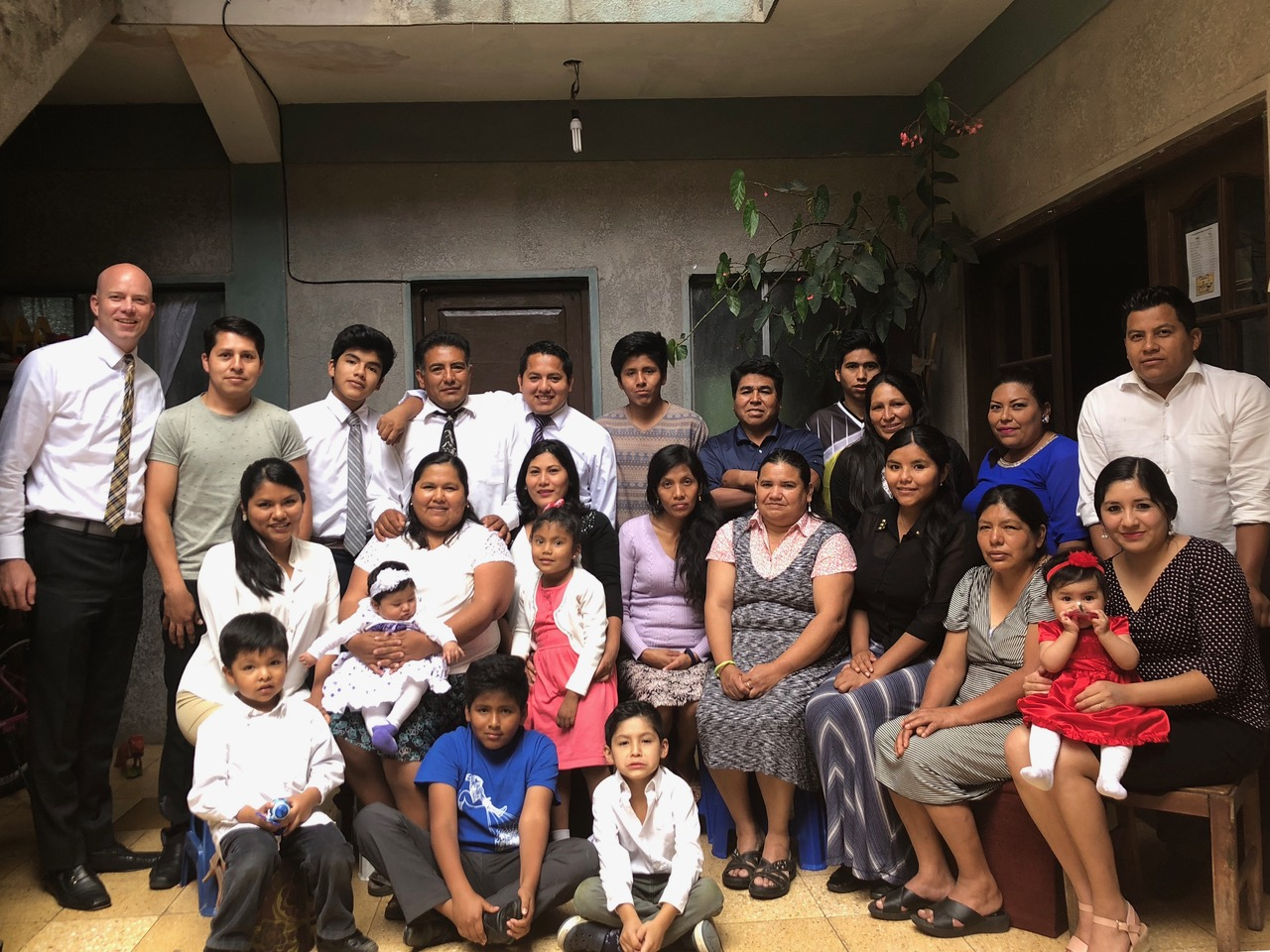 The Sanchez family with Davis Smith on one of his recent visits to Bolivia.