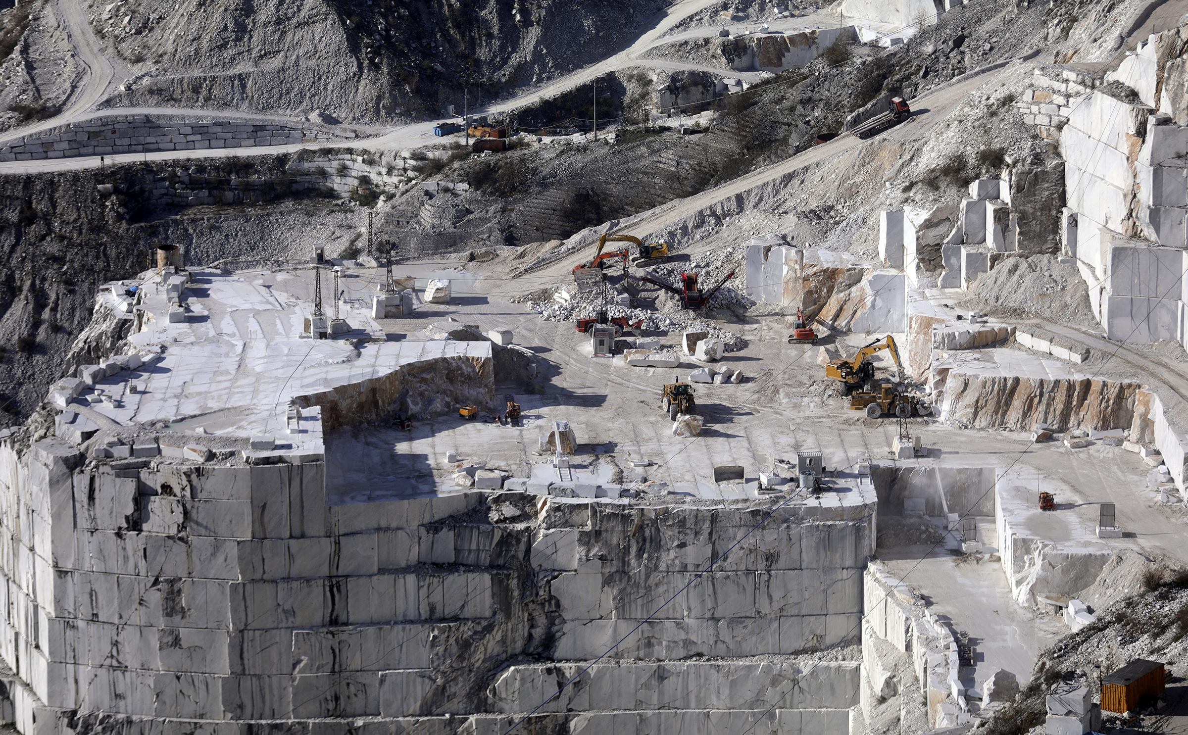 Marble quarry in Carrara, Italy, on Thursday, Nov. 15, 2018.