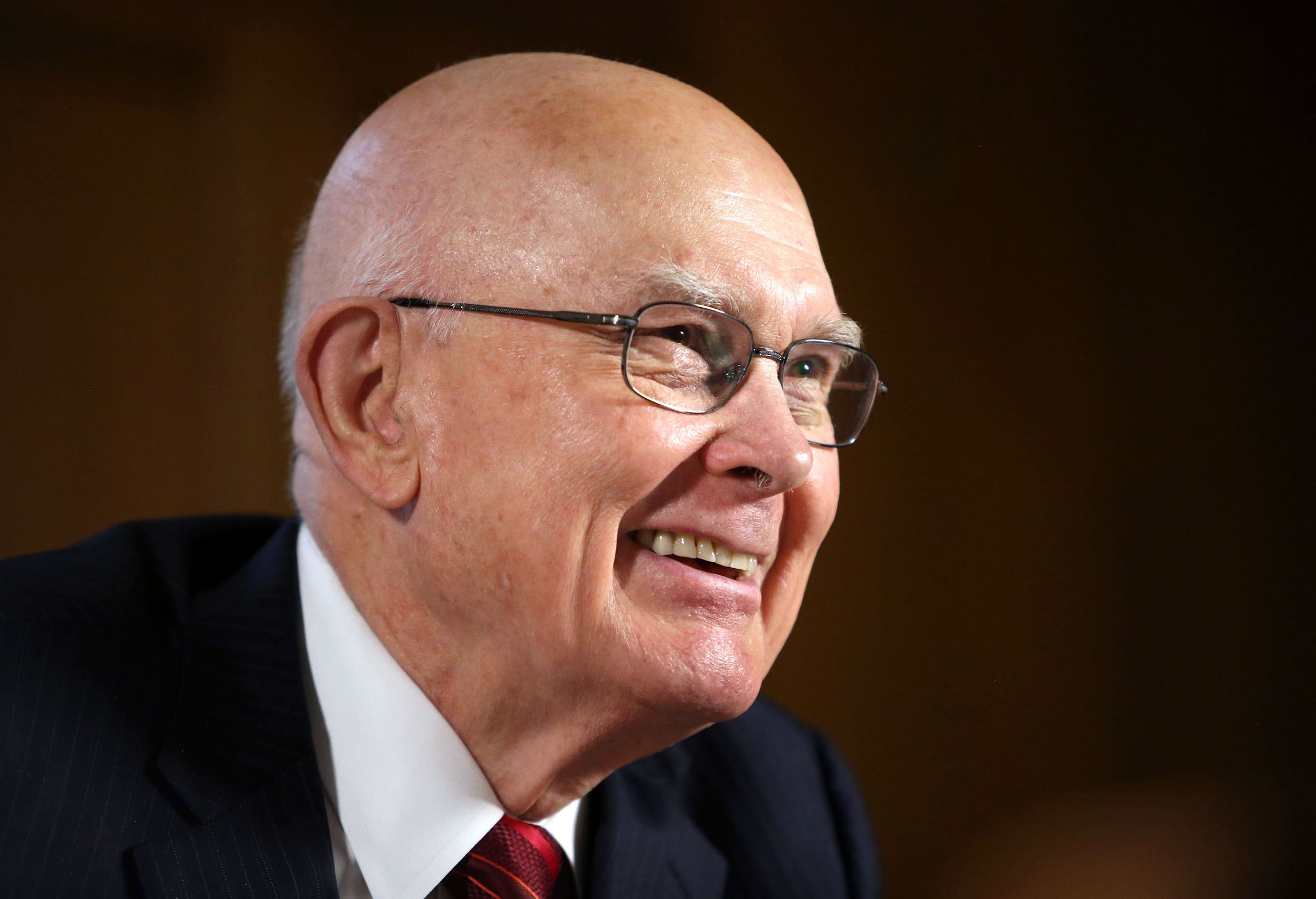 Elder Dallin H. Oaks answers interview questions at his office in the Church Administration Building in Salt Lake City on Wednesday, Jan. 10, 2018.