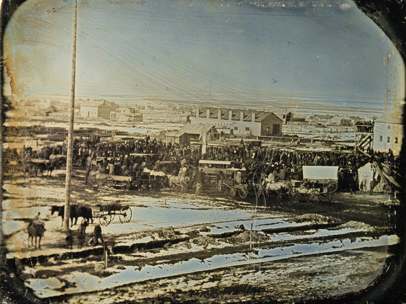 Groundbreaking of the Salt Lake Temple February 14, 1853.