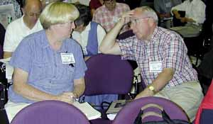 Participants in the annual Genealogy and Family History Conference wait for session to begin.