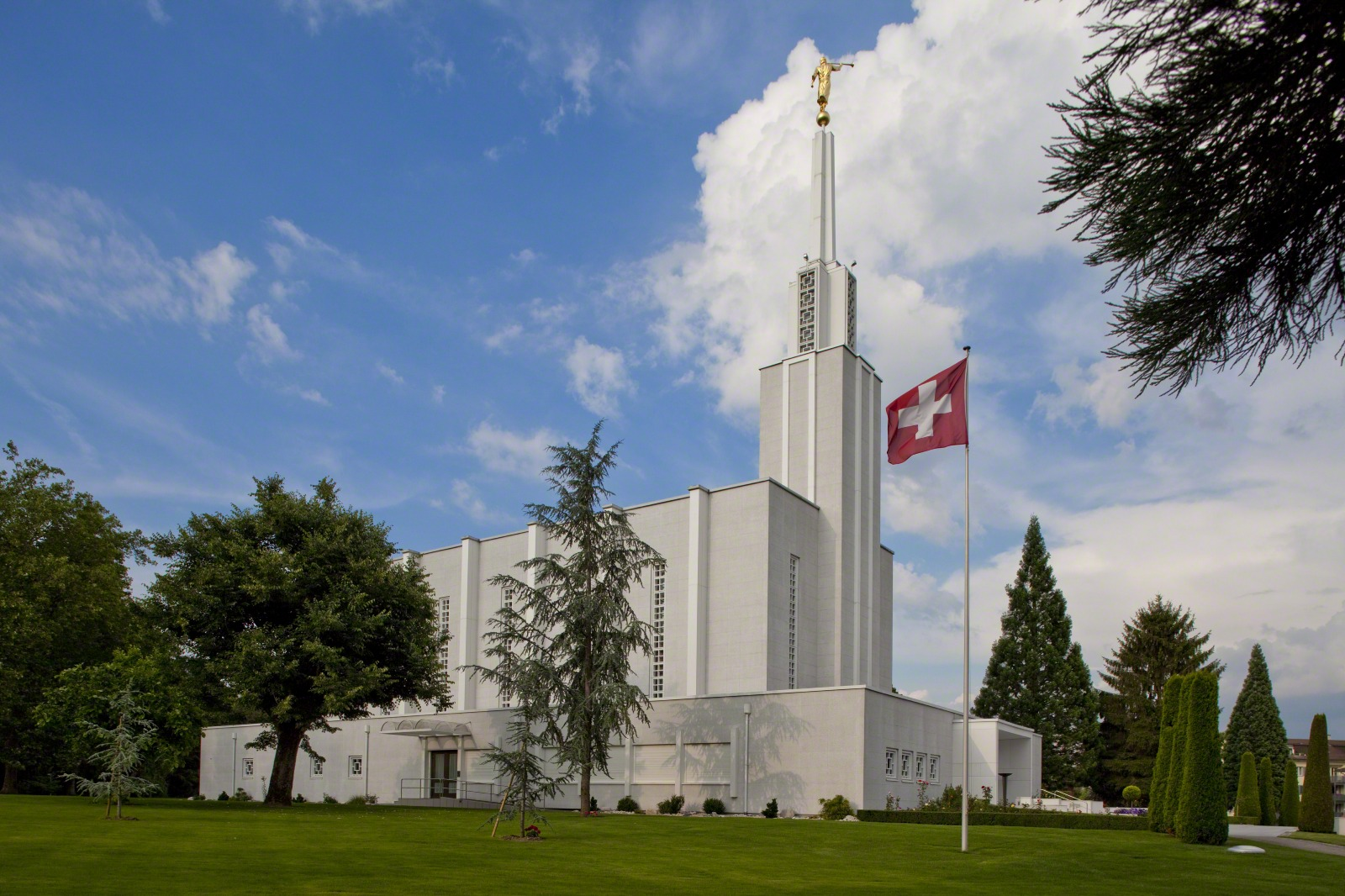 The Bern Switzerland Temple, the first in Europe, was dedicated in 1955 and remodeled in 1992.